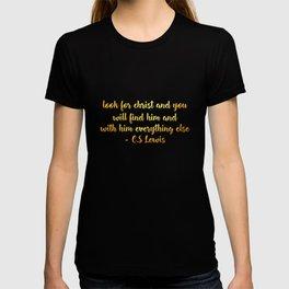 jesus c s lewis quote T-shirt