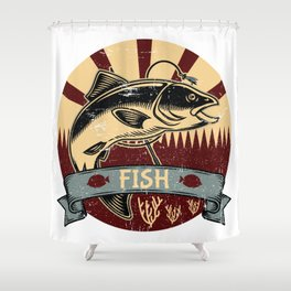 Fish Propaganda | Fishing Angler Lake Boat Shower Curtain