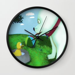 Who's in my bowl Wall Clock