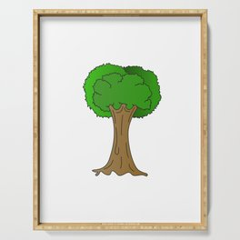 Beautiful Nature Tree Tshirt Design Hugger Tree lover Nature Lover Serving Tray