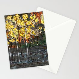Golden birches Stationery Cards