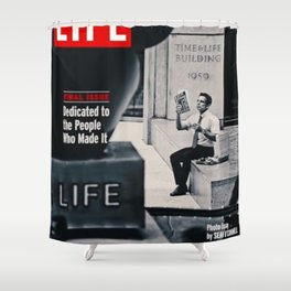 Walter Mitty LIFE Cover Shower Curtain