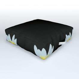 Waterlily Flowers On Black Background #decor #society6 #buyart Outdoor Floor Cushion