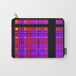 Unicorn Plaid Squares Carry-All Pouch
