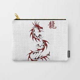 Asian Red Dragon Design Carry-All Pouch