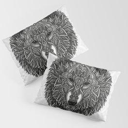 Gray Wolf Pillow Sham