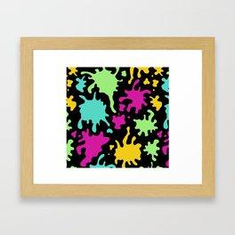 Colorful Paint Splatter Pattern Framed Art Print
