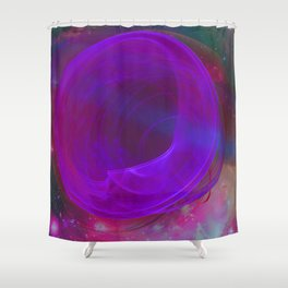 Welcome To The Wormhole Shower Curtain