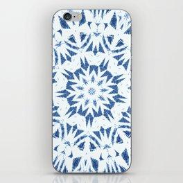 Snowflake Denim & White iPhone Skin