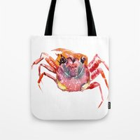 crab Tote Bags featuring Crab by SurenArt