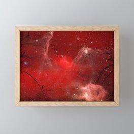 Electric Red Framed Mini Art Print