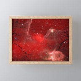 Electric Red Framed Mini Art Print
