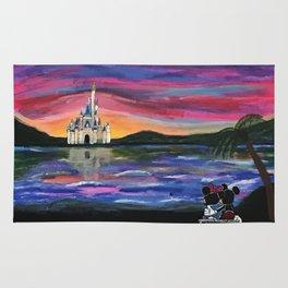 Romantic Castle Viewing Rug