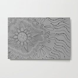 Circle of Pattern Metal Print