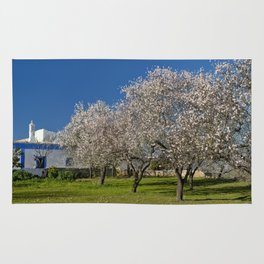 An Algarve almond orchard in Spring Rug