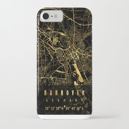 HANNOVER MAP GERMANY iPhone Case