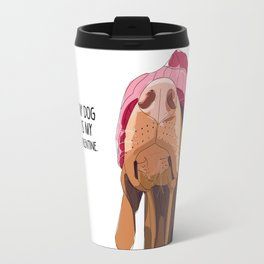 Vizsla Valentine Travel Mug