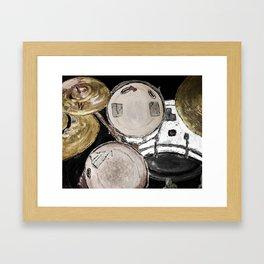 drum set, ready to rock Framed Art Print