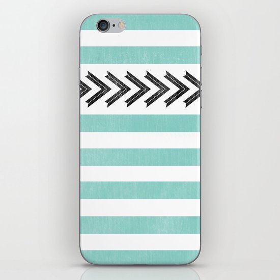 ARROW STRIPE {TEAL} iPhone & iPod Skin