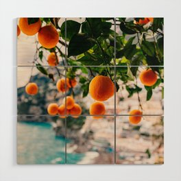 Amalfi Coast Oranges Wood Wall Art