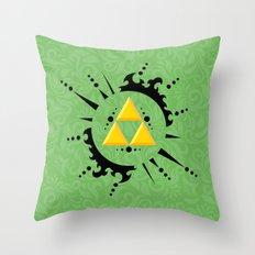 Triforce Zelda Throw Pillow