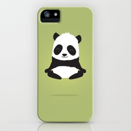 Mindful panda levitating iPhone Case