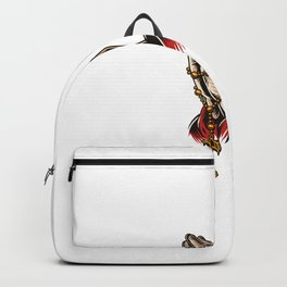Priest Praying Hands With Rosary Beads Backpack