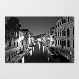 Venitian Canal. Santa Croce, Venice, Italy Canvas Print