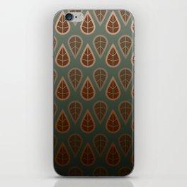 leafy pattern iPhone Skin