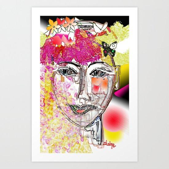 Blossoming women Art Print