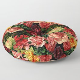 Vintage & Shabby chic - floral roses flowers rose Floor Pillow