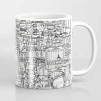champagne Mugs featuring NOTTINGHAM CHAMPAGNE by Sharon Turner