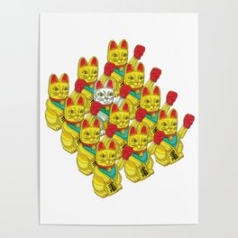 ARMY OF BOXING CATS Poster