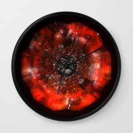 The Eye of Cyma: Fire and Ice - Frame 45 Wall Clock