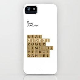 My favorite James Bond is... George Lazenby iPhone Case