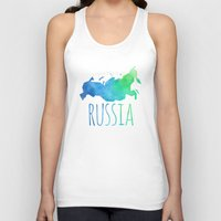 russia Tank Tops featuring Russia by Stephanie Wittenburg
