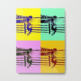 Girl by The Water Metal Print