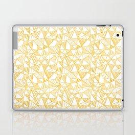 Gold foil doodle pattern Laptop & iPad Skin