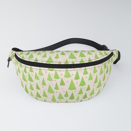 Modern Christmas Tree Holiday Pattern Fanny Pack