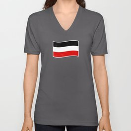 German Empire Flag Black White Red Unisex V-Neck