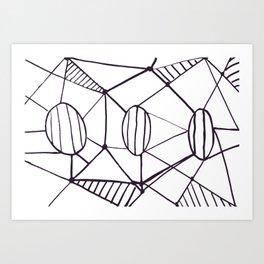 Pica_outline Art Print