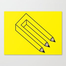 Illusion of Work Canvas Print