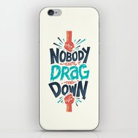 risa rodil iPhone & iPod Skins featuring Nobody can drag me down by Risa Rodil