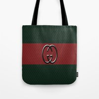 gucci Tote Bags featuring Gucci 1 by Beauti Asylum