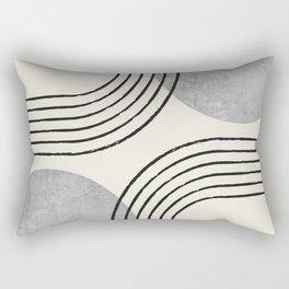 Sun Arch Double - Grey Rectangular Pillow