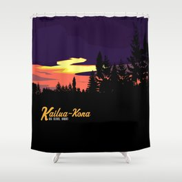 Kailua Kona Hawaii Sunset  Shower Curtain