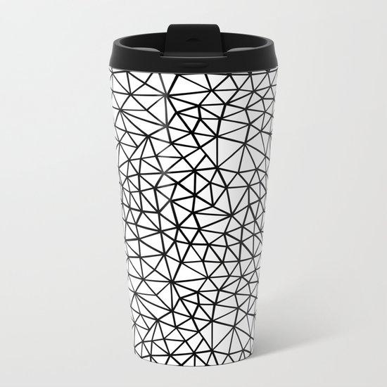 Shattered R Metal Travel Mug