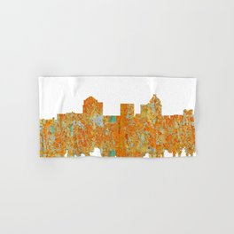 Greensboro, NC Skyline - Rust Hand & Bath Towel
