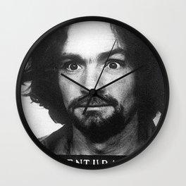 Manson Charles Mugshot Wall Clock