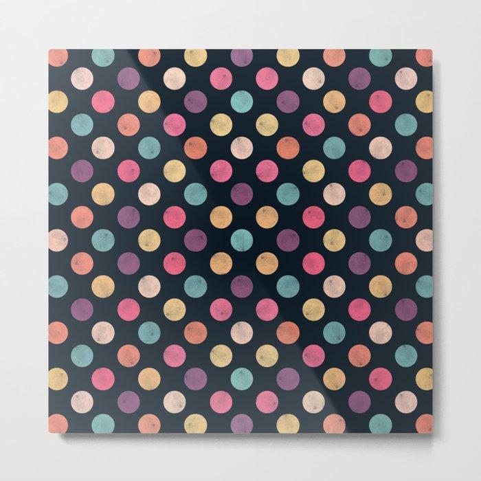 Watercolor Dots Pattern II Metal Print